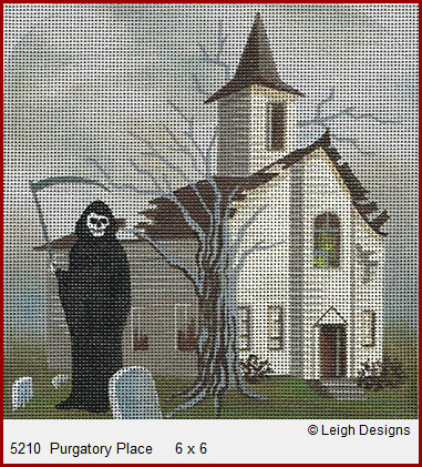 click here to view larger image of Purgatory Place (hand painted canvases)