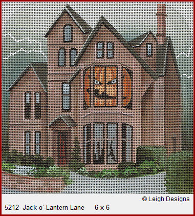 click here to view larger image of Jack-O-Lantern Lane (hand painted canvases)