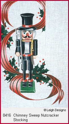 click here to view larger image of Chimney Sweep Nutcracker Stocking (hand painted canvases)