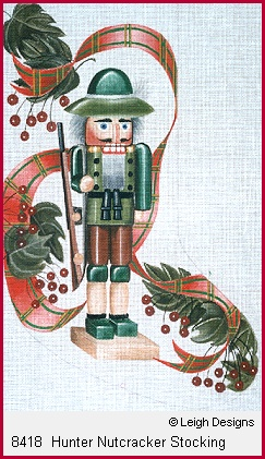 click here to view larger image of Hunter Nutcracker Stocking (hand painted canvases)