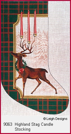 click here to view larger image of Highland Stag Candle Stocking (hand painted canvases)