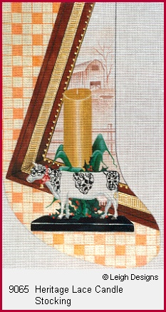 click here to view larger image of Heritage Lace Candle Stocking (hand painted canvases)