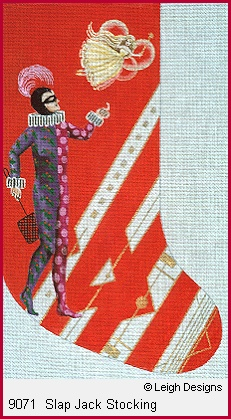 click here to view larger image of Slap Jack Stocking (hand painted canvases)