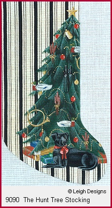click here to view larger image of The Hunt Tree Stocking (hand painted canvases)