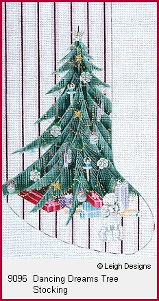 click here to view larger image of Dancing Dreams Tree Stocking (hand painted canvases)