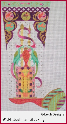 click here to view larger image of Justinian Stocking (hand painted canvases)