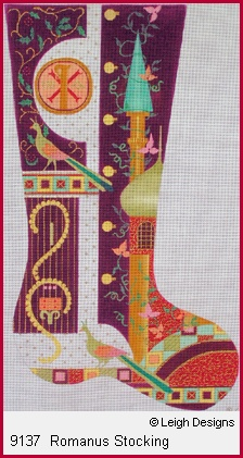 click here to view larger image of Romanus Stocking (hand painted canvases)