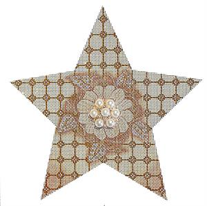 click here to view larger image of Gold Bling Star (hand painted canvases)