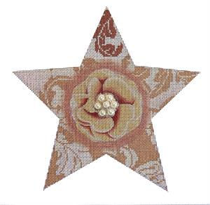 click here to view larger image of Bling Flower Star (hand painted canvases)