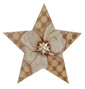 click here to view larger image of Bright Golden Star (hand painted canvases)