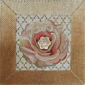 click here to view larger image of Pink Bling Flower (hand painted canvases)