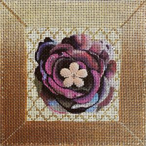 click here to view larger image of Purple Bling Flower (hand painted canvases)