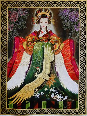 click here to view larger image of Xin Xin (Spiritual Heart) (hand painted canvases)