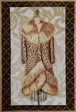 click here to view larger image of Leopard Evening Coat (hand painted canvases)