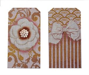 click here to view larger image of Pink Bling Eyeglasses Case (hand painted canvases)