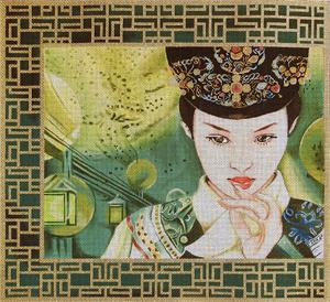 click here to view larger image of Ming Shu (Bright Pearl) (hand painted canvases)