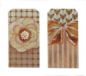 click here to view larger image of Peach Bling Eyeglasses Case (hand painted canvases)