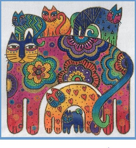 click here to view larger image of Bohemian Cats (hand painted canvases)