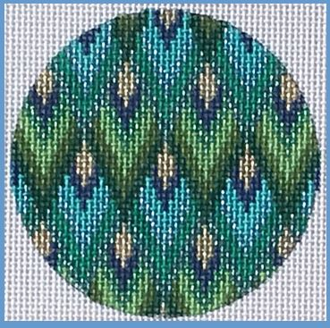 click here to view larger image of Bargello Ornament (hand painted canvases)