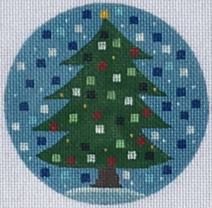click here to view larger image of Christmas Tree Ornament (hand painted canvases)