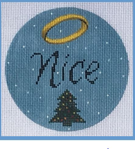 click here to view larger image of Nice Ornament (hand painted canvases)