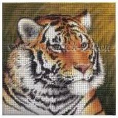 click here to view larger image of Tiger - 18ct (hand painted canvases)