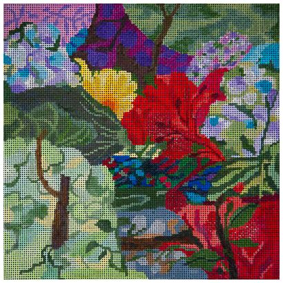 click here to view larger image of Summer Garden Collage (hand painted canvases)