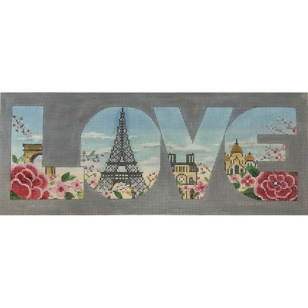 click here to view larger image of LOVE - Paris (hand painted canvases)