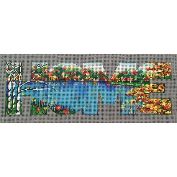 click here to view larger image of HOME - Lake View (hand painted canvases)