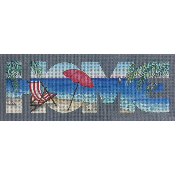 click here to view larger image of HOME - Beach View (hand painted canvases)