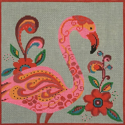 click here to view larger image of Fancy Flamingo (hand painted canvases)