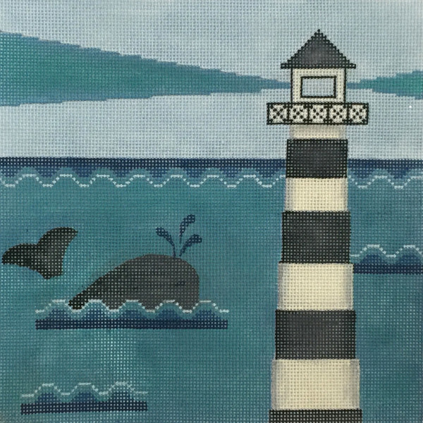 click here to view larger image of Whale And Lighthouse (hand painted canvases)