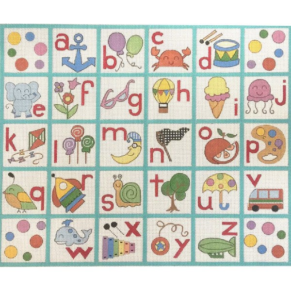 click here to view larger image of Lower Case Alphabet (hand painted canvases)