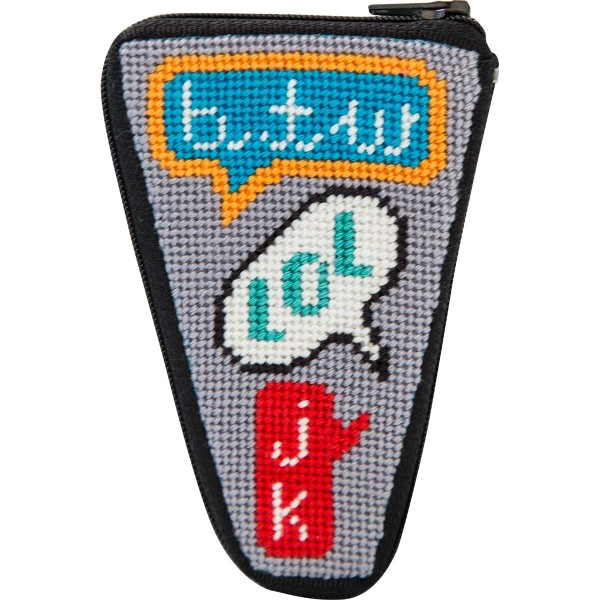 click here to view larger image of Texting Scissors Case (needlepoint kits)