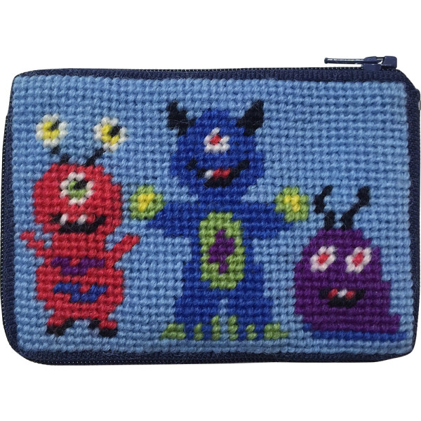 click here to view larger image of Monsters Coin Case (needlepoint kits)