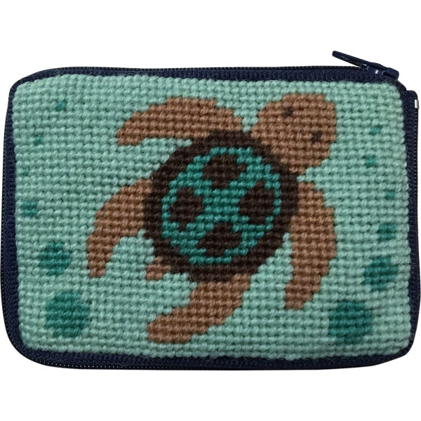click here to view larger image of Sea Turtle Coin Case (needlepoint kits)