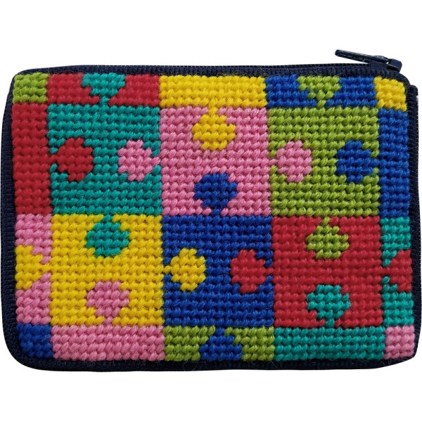 click here to view larger image of Puzzle Pieces Coin Case (needlepoint kits)