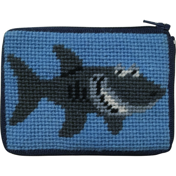 click here to view larger image of Shark Coin Case (needlepoint kits)