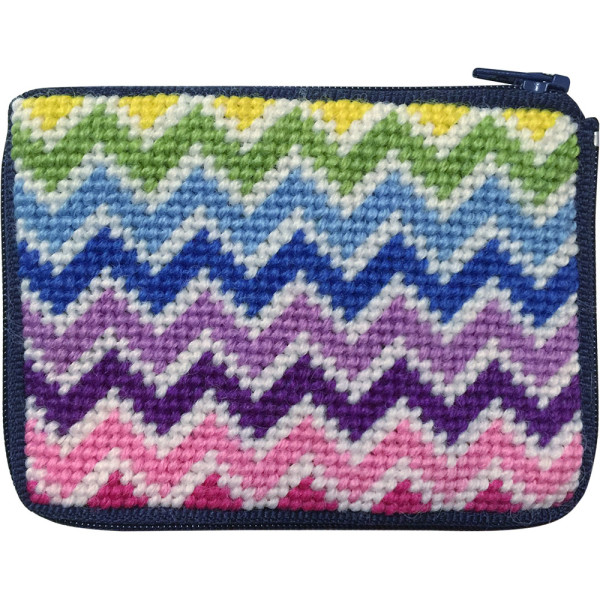 click here to view larger image of Chevrons Coin Case (needlepoint kits)