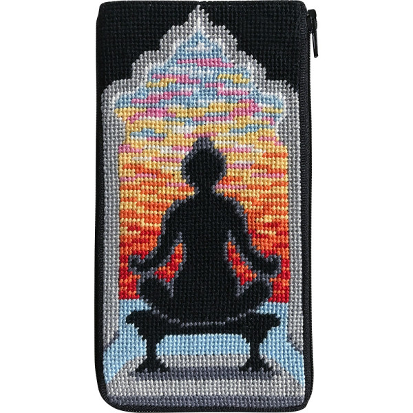 click here to view larger image of Yoga Pose Eyeglass Case (needlepoint kits)