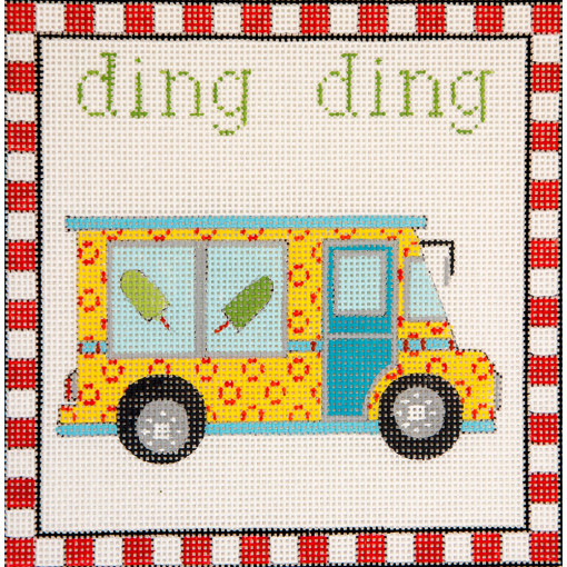 click here to view larger image of Ding Ding Ice Cream Truck (hand painted canvases)