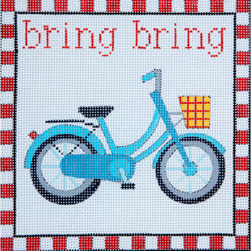 click here to view larger image of Bring Bring Bicycle (hand painted canvases)