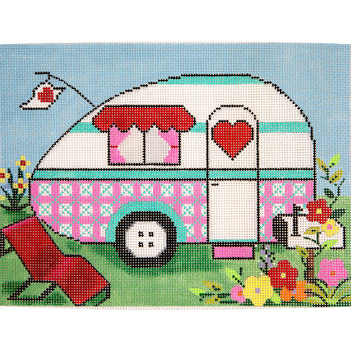 click here to view larger image of Springtime Travel Trailer (hand painted canvases)