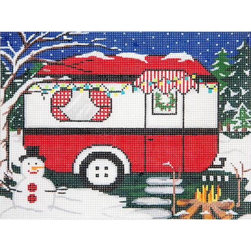 click here to view larger image of Winter Travel Trailer (hand painted canvases)