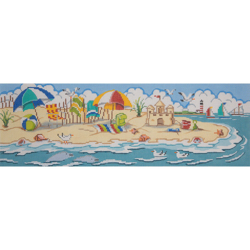 click here to view larger image of Day At The Beach Scene (hand painted canvases)