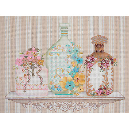 click here to view larger image of Perfume Bottles (hand painted canvases)