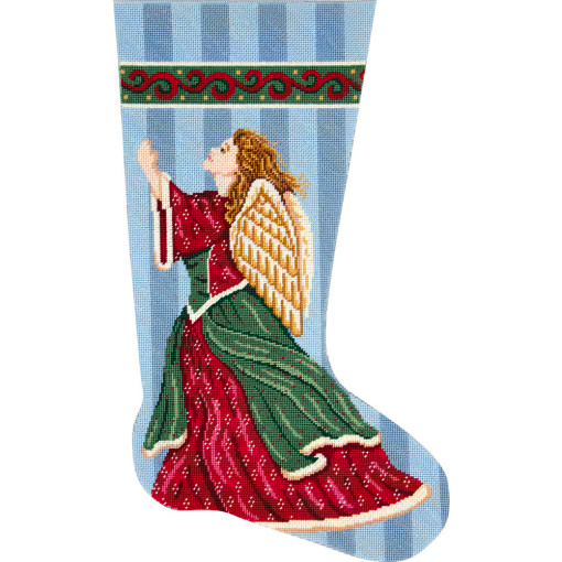 click here to view larger image of Angel In Praise Stocking (needlepoint kits)
