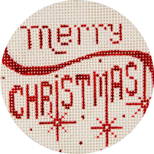 click here to view larger image of Merry Christmas - Red Ornament (hand painted canvases)