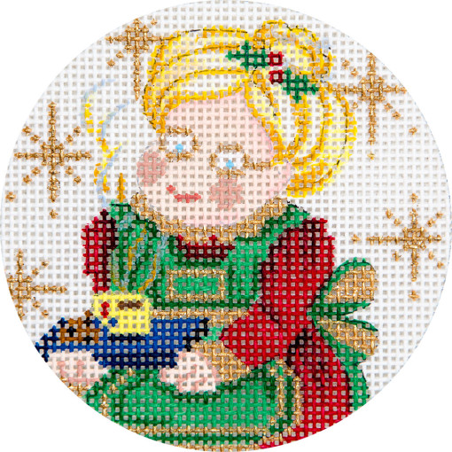 click here to view larger image of Mrs Claus Ornament (hand painted canvases)