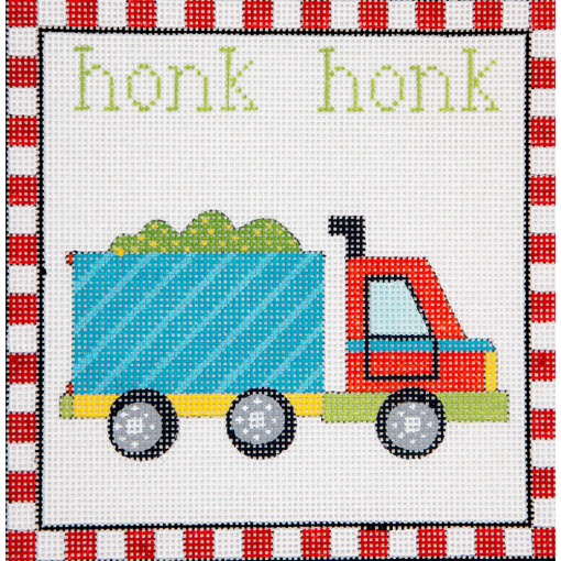 click here to view larger image of Honk Honk Dump Truck (hand painted canvases)